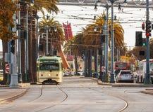 Tranvai giallo a San Francisco Fotografia Stock Libera da Diritti