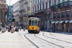 Tranvai a Milano Fotografia Stock Libera da Diritti