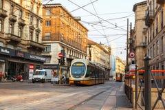 Tranvai a Milano Immagini Stock
