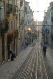 Tranway in Lissabon Lizenzfreie Stockfotografie