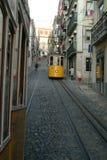 Tranway in Lissabon Lizenzfreie Stockbilder