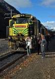 TranzAlpine DXC 5264 Locomotive New Zealand Stock Photos