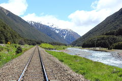 Tranzalpine, Nouvelle Zélande photos stock