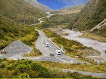 TranzAlpine Route, New Zealand Royalty Free Stock Photo