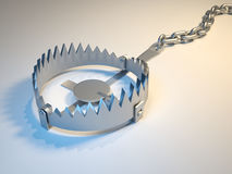Trap. Illustration of bear trap suggesting risk - 3d render Royalty Free Stock Photos