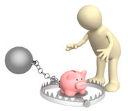 Trap. Piggy bank - bait in a trap Royalty Free Stock Photography