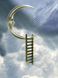 Trap aan de maan royalty-vrije illustratie