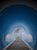 Trap aan de Maan Stock Afbeelding