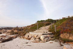 Trap aan een strand in Californië Royalty-vrije Stock Afbeeldingen
