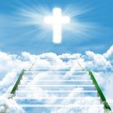 Trap aan hemel stock afbeeldingen