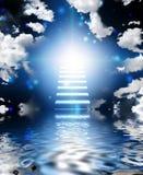 Trap aan hemel stock illustratie