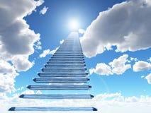 Trap aan hemel royalty-vrije illustratie