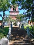 Trap aan Kerk van Verrijzenis skete Verrijzenis skete van het Valaam-Klooster Valaam - de plaats van bedevaart van Orthodox royalty-vrije stock afbeelding