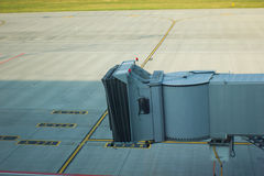 Trap. The airport serves a ladder to the aircraft for landing passengers Stock Photography