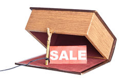 Trap,  catch. Fraud in the sale. box is installed in the form of the trap Stock Images