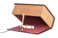 Trap,  catch. Box is installed in the form of the trap. strange proposal Stock Photos