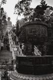 Trap die tot Tian Tan Buddha in Hong Kong China leiden stock foto's