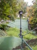 Trap door een park aan de Hogere Stad van Zagreb Stock Foto's