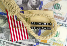 Trap on the economy. Trap on the US economy Stock Photo