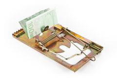 Trap with euro Royalty Free Stock Photography