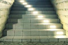 Trap met lampen Royalty-vrije Stock Afbeelding