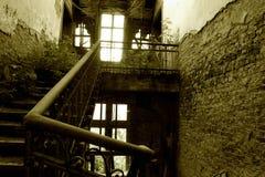 Trap in ruïnes Stock Foto's