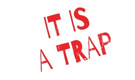 It Is A Trap rubber stamp Royalty Free Stock Images