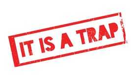 It Is A Trap rubber stamp Royalty Free Stock Image