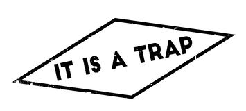 It Is A Trap rubber stamp Stock Photos
