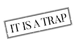 It Is A Trap rubber stamp Stock Image