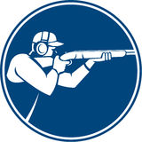 Trap Shooting Shotgun Circle Icon Stock Image