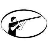Trap shooting Royalty Free Stock Image