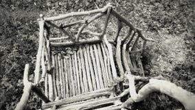 Trap in Spookbungalow in Wildernis wordt gevonden die royalty-vrije stock foto