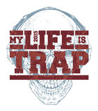 Trap Typography Stock Photo