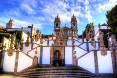 Trap van Heiligdom van Bom Jesus Do Monte in Tenoes, Braga, Portugal royalty-vrije stock afbeelding