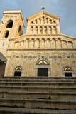 Trap voor ingang aan de kathedraal van Cagliari, Sardinige stock foto