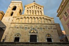 Trap voor ingang aan de kathedraal van Cagliari, Sardinige royalty-vrije stock fotografie