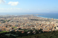 Trapani. Panorama of Trapani and Egadi islans - Sicily Royalty Free Stock Image