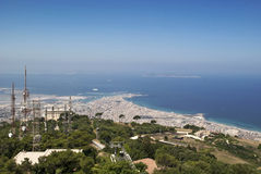 Trapani. Landscape of trapani from erice Stock Images
