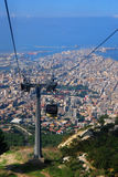 Trapani cable car Stock Photo
