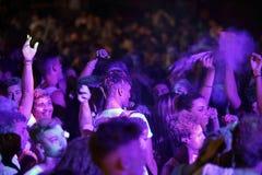 Trapani, Cornino - 07/27/2017: Θερινά φεστιβάλ και υπαίθριες συναυλίες στοκ φωτογραφία