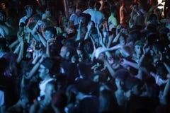 Trapani, Cornino - 07/27/2017: Θερινά φεστιβάλ και υπαίθριες συναυλίες στοκ εικόνα με δικαίωμα ελεύθερης χρήσης