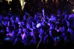 Trapani, Cornino - 07/27/2017: Θερινά φεστιβάλ και υπαίθριες συναυλίες στοκ φωτογραφίες με δικαίωμα ελεύθερης χρήσης