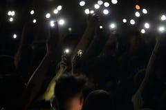 Trapani, Cornino - 07/27/2017 : Festivals d'été et concerts extérieurs photographie stock libre de droits