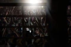 Trapani, Cornino - 07/27/2017: Lato festiwale i plenerowi koncerty obrazy stock