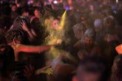 Trapani, Cornino - 07/27/2017: Lato festiwale i plenerowi koncerty fotografia royalty free