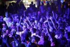 Trapani, Cornino - 07/27/2017: Lato festiwale i plenerowi koncerty obraz royalty free