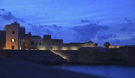 Trapani di notte. La Sicilia; L'Italia Fotografie Stock
