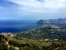 Trapani, Erice, Sicily, góra Cofano Zdjęcie Stock