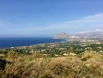 Trapani, Erice, Sicily, góra Cofano Obraz Stock